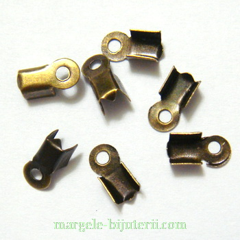 Capat prindere snur, bronz, 9x3mm 10 buc