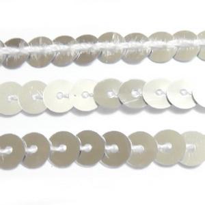 Panglica paiete argintii, 6mm 1 m