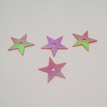 Paiete stelute rosii cu reflexe 13mm - 2 gr(cca 80 bc) 2 g