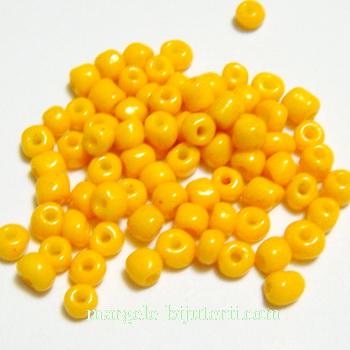 Margele nisip, galben-portocaliu, opace, 4mm 20 g