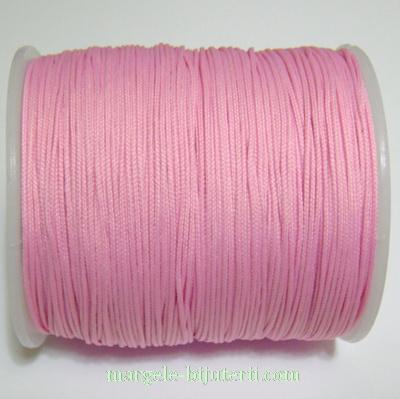Ata matase roz, 0.8mm, cu interior nylon 1 m