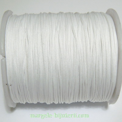 Ata matase alba, 0.8mm, cu interior nylon 1 m