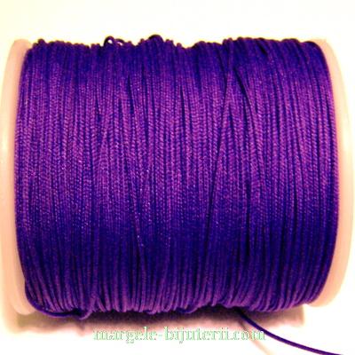 Ata matase violet, 0.8mm, cu interior guta neelastica 1 m