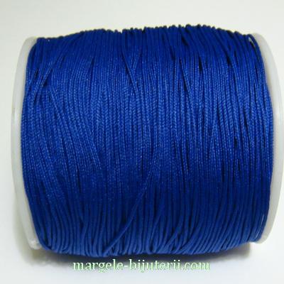 Ata matase, albastru-cobalt, 0.8mm, cu interior nylon 1 m