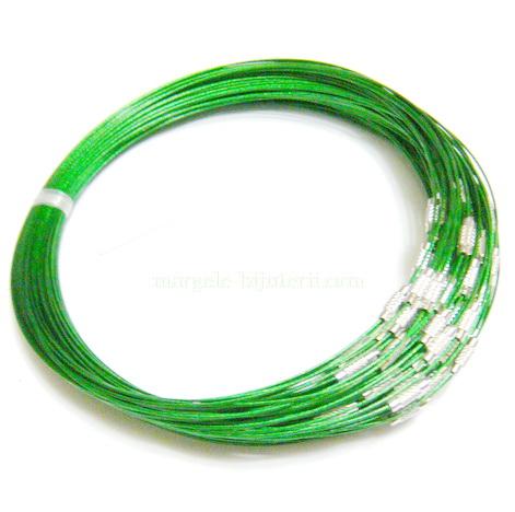 Baza colier verde, cu inchizatoare 1 buc