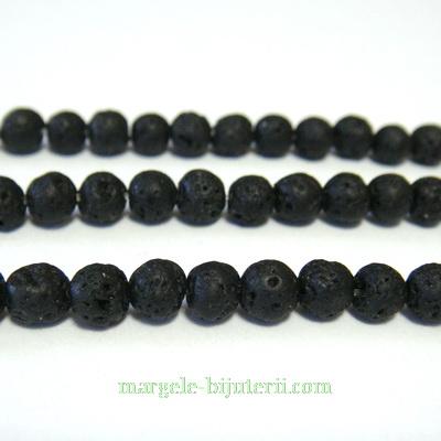 Lava sferice, negre, 4.5mm 1 buc