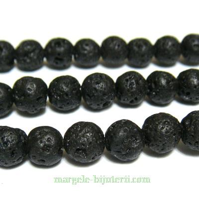 Lava sferice, negre, 8.5mm 1 buc