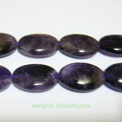 Ametist oval, plat, 18x13x7mm 1 buc