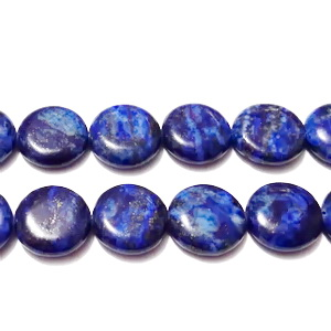 Lapis Lazuli, rotund, plat, 14x5mm 1 buc