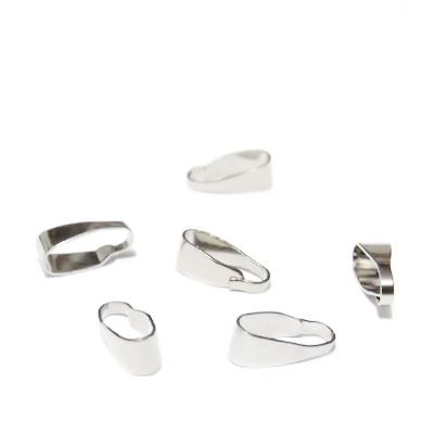 Accesoriu pandantiv, argintiu inchis, 7x1~3mm 10 buc