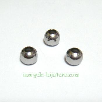 Margele otel inoxidabil 304, 6mm, orificiu: 3mm 1 buc