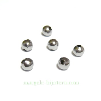 Margele otel inoxidabil 304, 4mm, orificiu: 1mm 1 buc