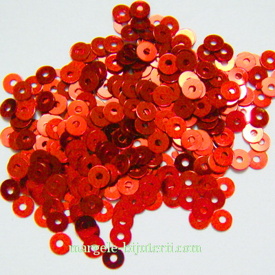 Paiete rosii, 3mm- 3 grame (1000-1100 buc) 3 g
