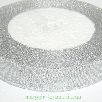 Panglica lurex argintie, 16mm 1 rola 22 m