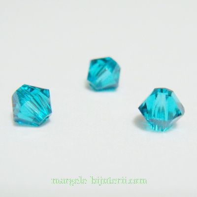 Swarovski Elements, Bicone 5328-Blue Zircon, 4mm 1 buc