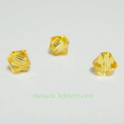 Swarovski Elements, Bicone 5328-Light Topaz, 4mm 1 buc