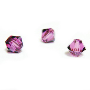 Swarovski Elements, Bicone 5328-Amethyst, 4mm 1 buc