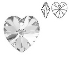 Swarovski Elements, Heart 6228-Crystal, 14.4x14mm 1 buc