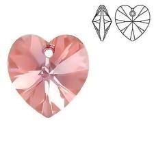Swarovski Elements, Heart 6228-Light Rose, 14.4x14mm 1 buc