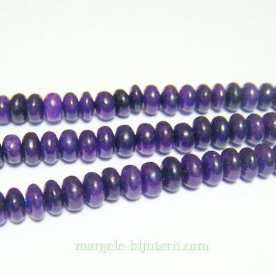 Jad violet, rondel, 5x3mm 1 buc