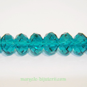 Cristal rondel fatelat verde 8x6mm 1 buc