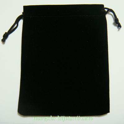 Saculet catifea negru, interior 8.5x6.5cm 1 buc