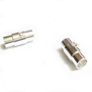 Inchizatoare magnetica, cu siguranta, argintie, tub 15x5mm, orif.4mm 1 set