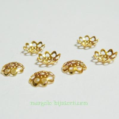 Capacele filigran, placate cu aur, 6x1mm 10 buc