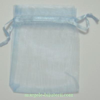 Saculeti organza, albastru deschis, 6.5X6.5cm 1 buc
