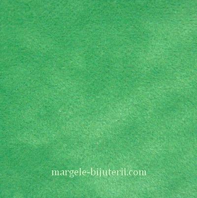 Imitatie catifea verde, 30x20cm, grosime 0.7mm 1 buc