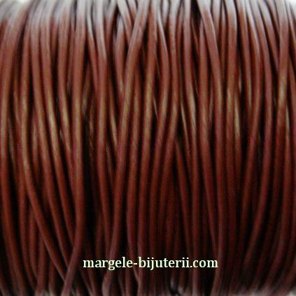 Snur piele naturala, maro, 1.5 mm 1 m