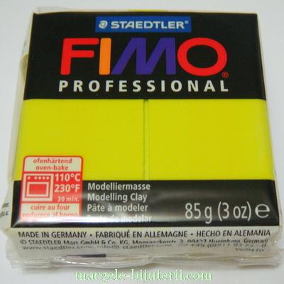 Plastelina fimo profesional 85g cod cul. 1 galben lemon 1 buc