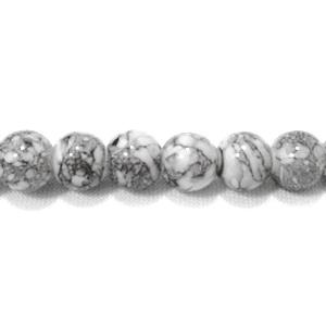 Margele sticla rotunde gri 6 mm 10 buc