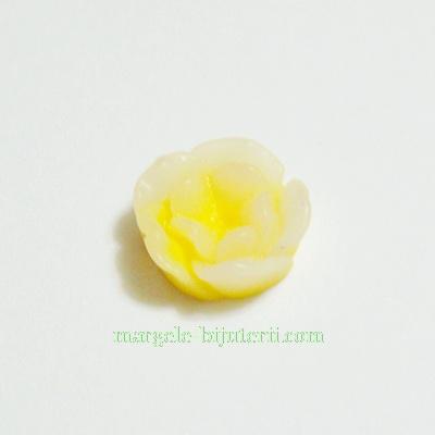 Cabochon rasina, flori galbene, in degrade, 13x6mm 1 buc